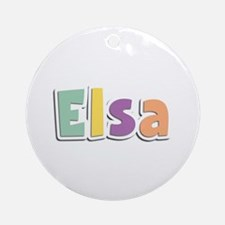 Elsa Spring14 Round Ornament