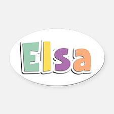 Elsa Spring14 Oval Car Magnet
