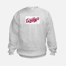 Willys Logo red.png Sweatshirt