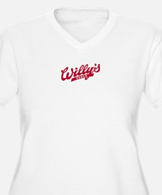Willys Logo red.png Plus Size T-Shirt