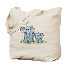 Mommy & Baby Elephant Tote Bag