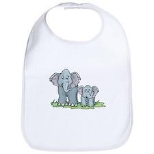 Mommy & Baby Elephant Bib