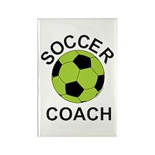 Soccer Coach Green Rectangle Magnet