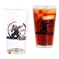 Hawkeye Drinking Glass