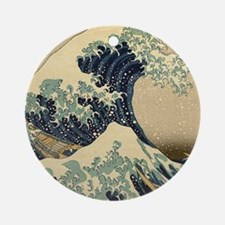 Japanese Waves Ornament (Round)