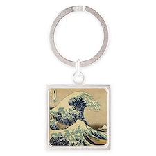 Japanese Waves Keychains