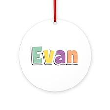Evan Spring14 Round Ornament
