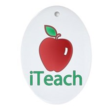 iTeach Oval Ornament