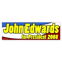 John Edwards for President Patriotic Bumper Sticker