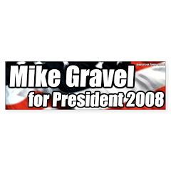 Mike Gravel for President bumper sticker