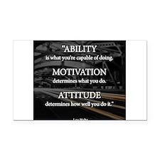 Ability Motivation Attitude Rectangle Car Magnet