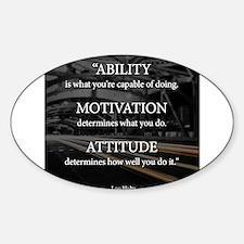 Ability Motivation Attitude Decal