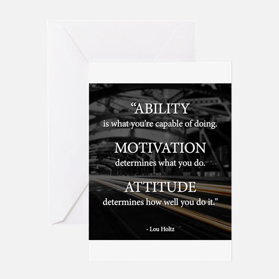 Ability Motivation Attitude Greeting Card