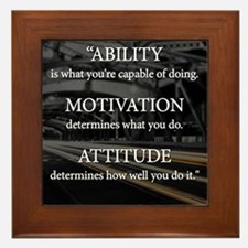 Ability Motivation Attitude Framed Tile