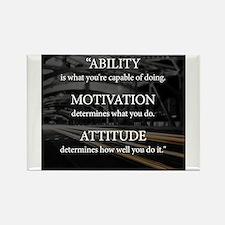 Ability Motivation Attitude Rectangle Magnet