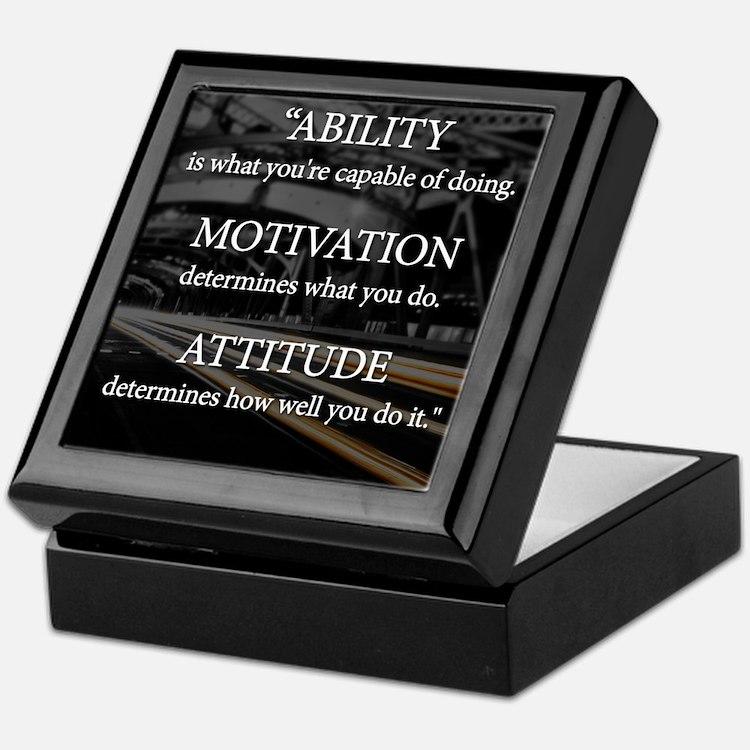 Ability Motivation Attitude Keepsake Box