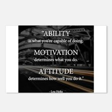 Ability Motivation Attitude Postcards (Package of