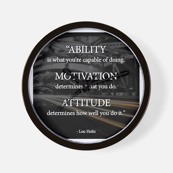 Ability Motivation Attitude Wall Clock
