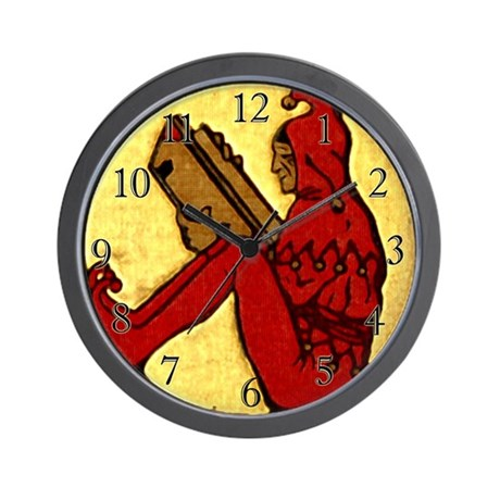 Reading Jester Wall Clock