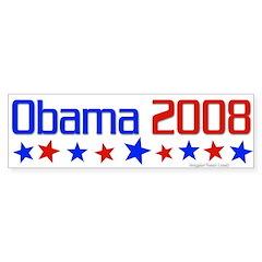 Obama 2008 Bumper Sticker With Stars