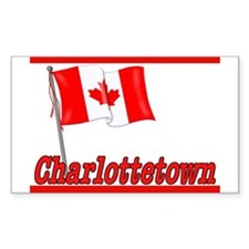 Canada Flag - Charlottetown Rectangle Decal
