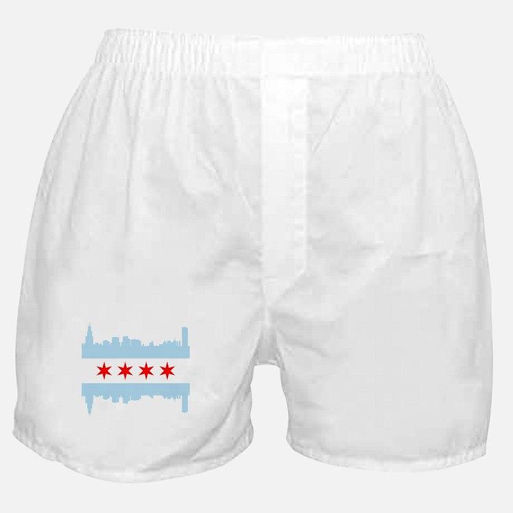 Chicago Flag Skyline Boxer Shorts