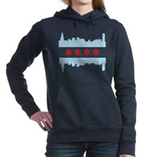 Chicago Flag Skyline Women's Hooded Sweatshirt
