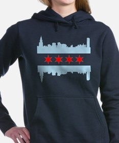 Chicago Flag Skyline Women's Hooded Sweatshirt