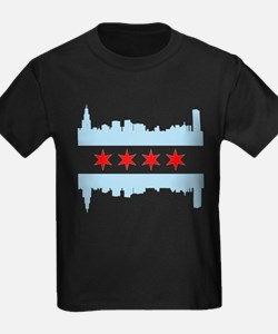 Chicago Flag Skyline T-Shirt
