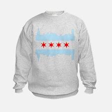 Chicago Flag Skyline Sweatshirt