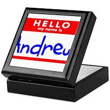 HELLO MY NAME IS ANDREW Keepsake Box