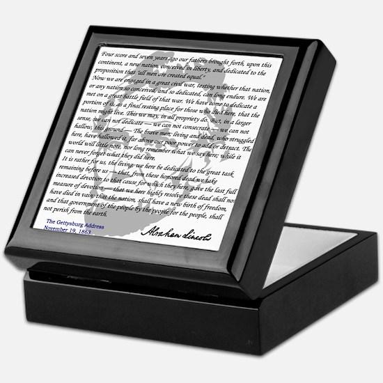 Gettysburg Address Keepsake Box