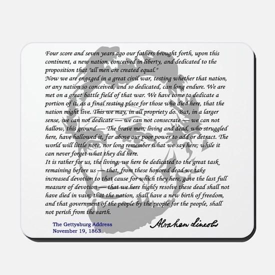 Gettysburg Address Mousepad