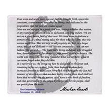 Gettysburg Address Throw Blanket