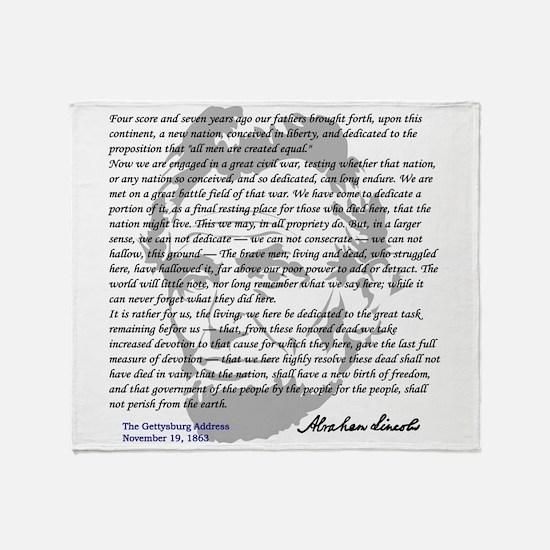 Gettysburg Address Throw Blanket