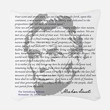 Gettysburg Address Woven Throw Pillow