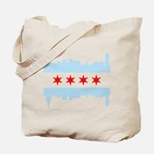 Chicago Flag Skyline Tote Bag