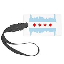 Chicago Flag Skyline Luggage Tag