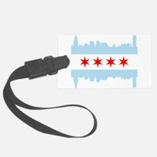 Chicago Flag Skyline Luggage Tag