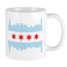 Chicago Flag Skyline Mugs