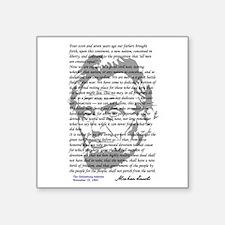 "Gettysburg Address Square Sticker 3"" x 3"""