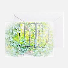 Leaf Window Greeting Cards