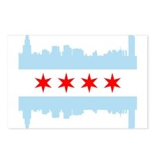 Chicago Flag Skyline Postcards (Package of 8)