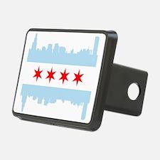 Chicago Flag Skyline Hitch Cover