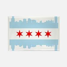 Chicago Flag Skyline Magnets