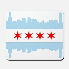 Chicago Flag Skyline Mousepad
