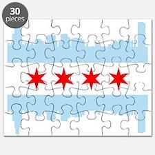 Chicago Flag Skyline Puzzle