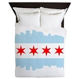 Chicago flag Luxe Full/Queen Duvet Cover
