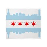 Chicago flag Blankets
