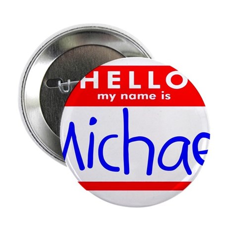 """MICHAEL 2.25"""" Button (100 pack)"""